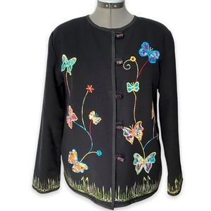 Vintage Butterfly embroidery jacket.